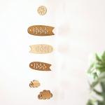 こいのぼりの壁掛け木製ミニモビール