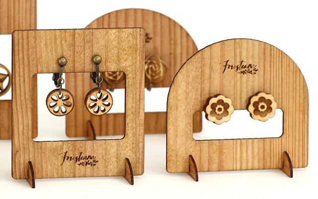 木製ディスプレイスタンドアップ