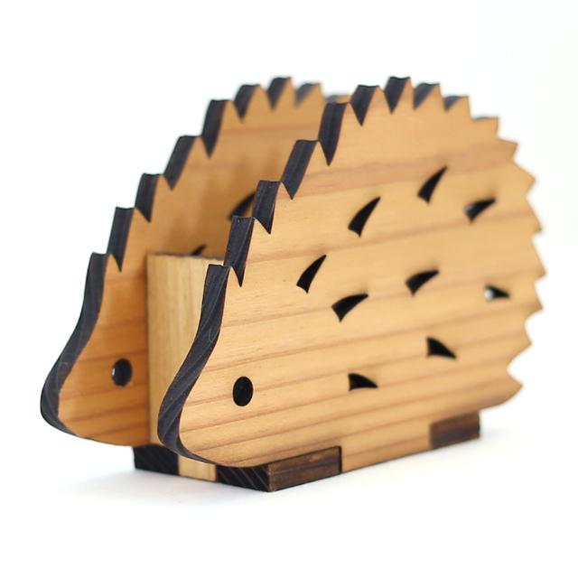レーザーカットして組み立てました 木製印鑑スタンド