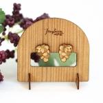 ぶどうの木製ピアス・イヤリング ディスプレイスタンド