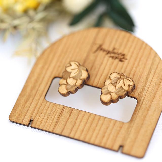 木製ピアス台紙