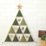 木製クリスマスタペストリーツリーキット(トナカイオーナメント付き)