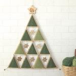 木製クリスマスタペストリーツリーキット(雪の結晶オーナメント付き)
