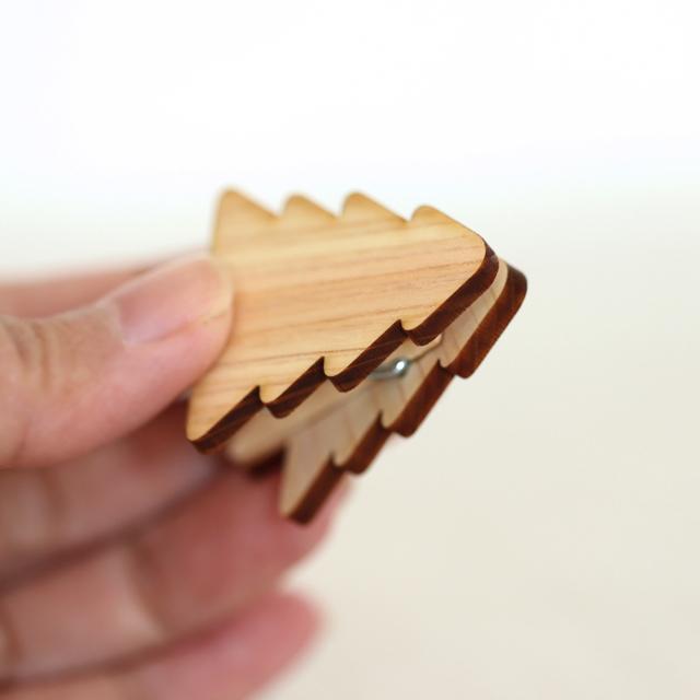 木製メモ&フォトスタンドクリップ