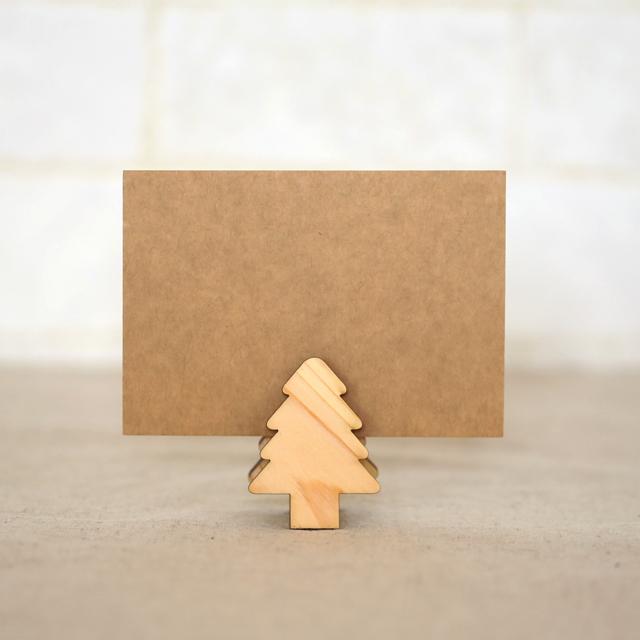 もみの木の木製メモスタンドクリップ2個セット