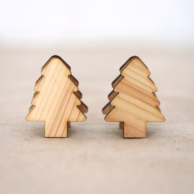 もみの木の木製メモ&フォトスタンドクリップ2個セット