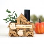 ハロウィンのお家 木製ハンコスタンド